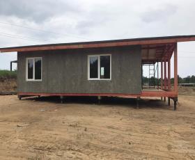 д. Хиттолово строительство дома из СИП панелей за 9 дней