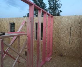 д. Коммолово. Строительство дома из СИП панелей