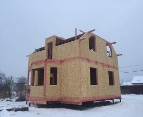 д. Санино. Строительство дома из СИП панелей