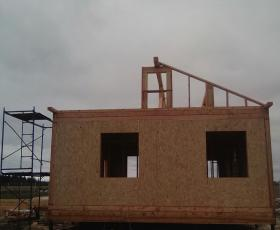 д. Торосово Волосовский р-н. Строительство дома из СИП панелей