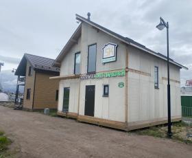 Демо дом (офис) из СИП панелей. Мега-дыбенко