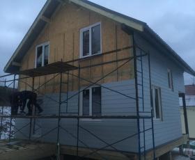 Деревня Порошкино. Дом из СИП панелей