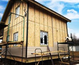 Деревня Ранилово. Дом из СИП панелей