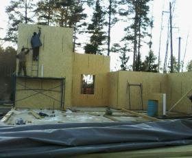 ДНП Дубки. Строительство дома из СИП панелей