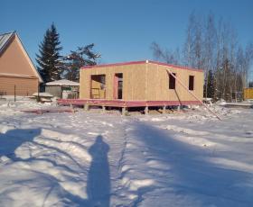 Дом из СИП панелей. п. Мшинская