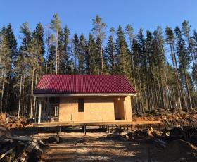 Дом из СИП панелей в д. Агалатово