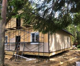 Двухэтажный дом из СИП панелей в п. Рощино