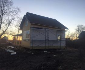 г. Волхов. Лен. обл. Строительство дома из СИП панелей