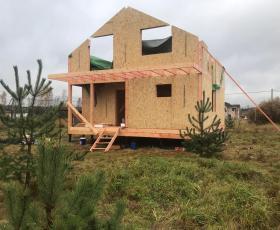 КП Коркинский ручей. Строительство дома из СИП панелей
