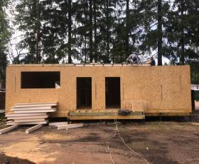 Одноэтажный СИП дом п. Рощино