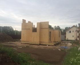 п. Чёрная Речка, Всеволожский район. Строительство дома из СИП панелей