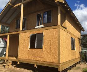 п. Касимово. Строительство дома из СИП панелей