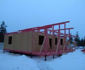 п. Керро. Проект дома из СИП панелей