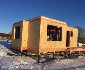 п. Красный Бор. Строительство дома из СИП панелей
