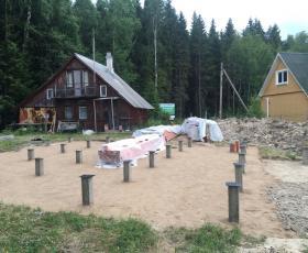 п. Лебяжье. Строительство дома из СИП панелей