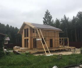 п. Озерки. Строительство дома из СИП панелей