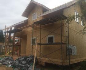 п. Синявино. Строительство дома из СИП панелей
