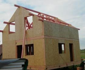 п. Токкарево. Строительство дома из СИП панелей
