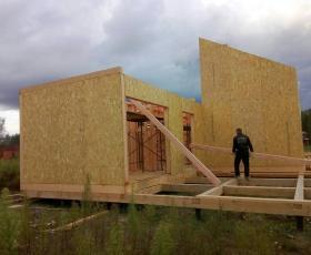 п. Вуокса. Строительство дома из СИП панелей