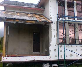 п. Зелёная Роща. Строительство дома из СИП панелей