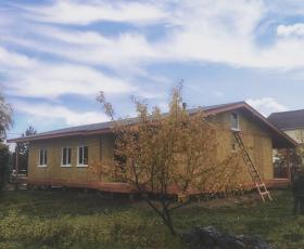 п. Жихарево. Дом из СИП панелей.