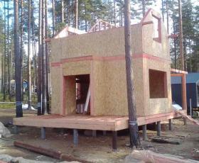 Первомайское. Дом из СИП панелей по типовому проекту Демо