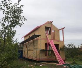 СНТ Дачное. Дом из СИП-панелей