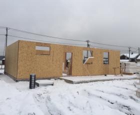 СНТ Дружное. Дом из СИП панелей с гаражом