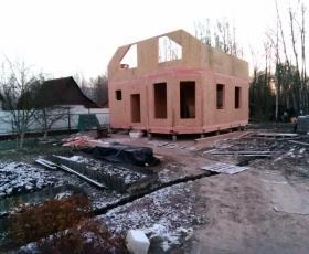 СНТ Красногорское. Дом из СИП панелей по проекту Мерлин