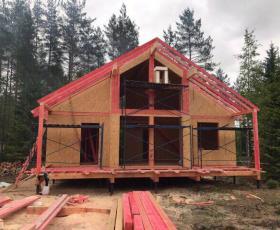 СНТ Победитель. Построенный проект дома