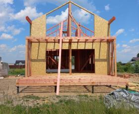 Строительство дома из СИП панелей в д. Аррапакузи