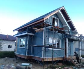 Строительство дома из СИП панелей в д. Ладога