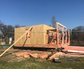 Строительство дома из СИП панелей в д. Выборжец