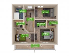 Дом из СИП панелей по проекту Касимово - план второго этажа
