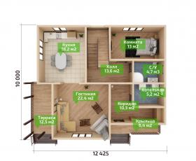 Дом из СИП панелей по проекту Вайя план первого этажа