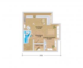 Дом из СИП панелей по проекту Венге план первого этажа
