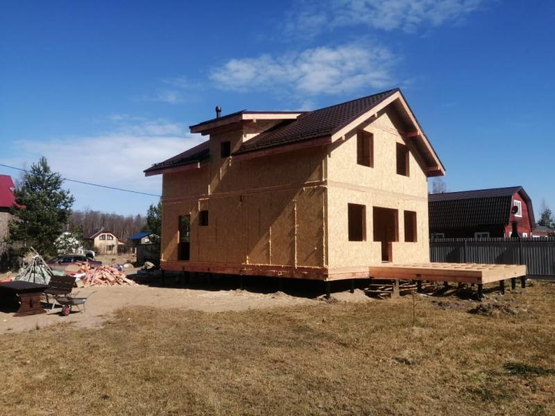 Строительство дома из СИП панелей в д.Волна