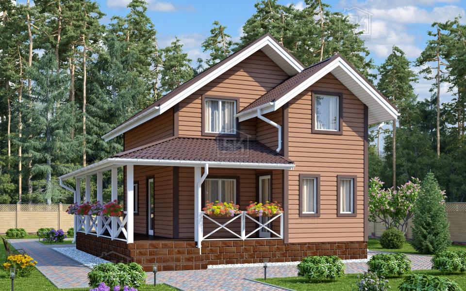 Дом из СИП панелей по проекту Кискелево