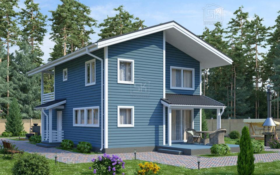 Дом из СИП панелей по проекту Таллин