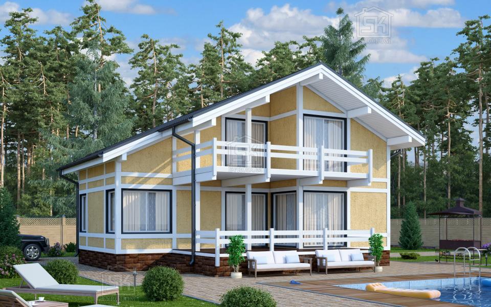 Дом из СИП панелей по проекту Барон
