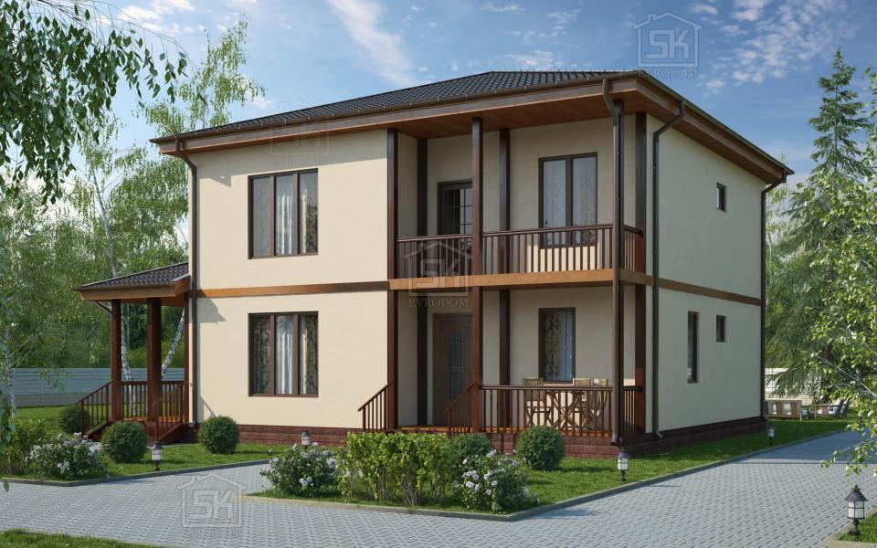 Дом из СИП панелей по проекту Вайя