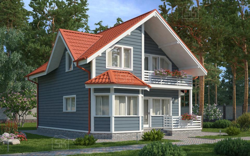 Проект дома из СИП панелей Игора