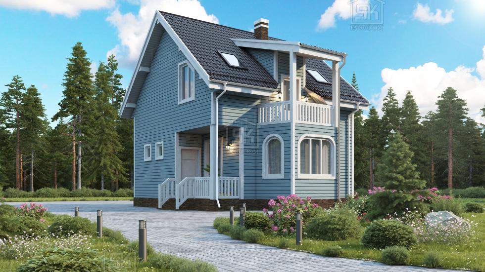 Дом из СИП панелей по проекту Санино