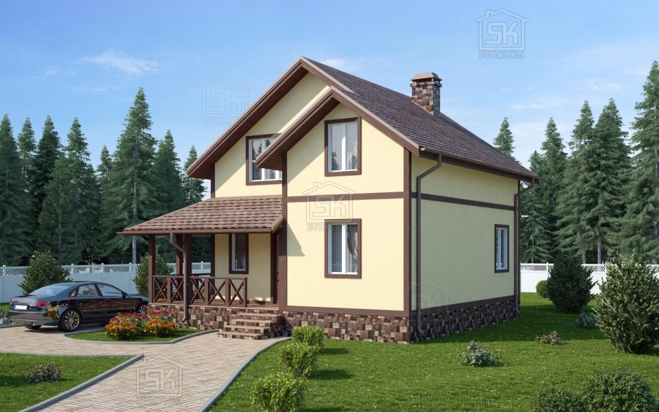 Дом из СИП панелей по проекту Волхов
