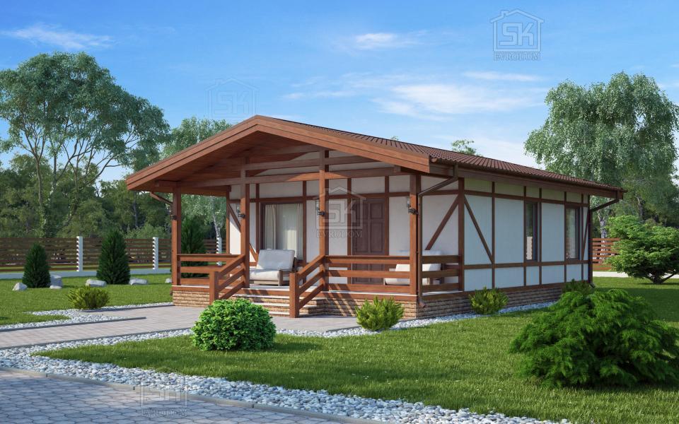 Дом из СИП панелей по проекту Хиттолово