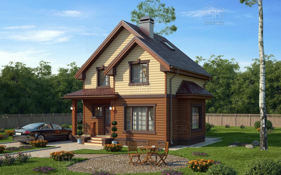 Дом из СИП панелей по проекту Демо 2