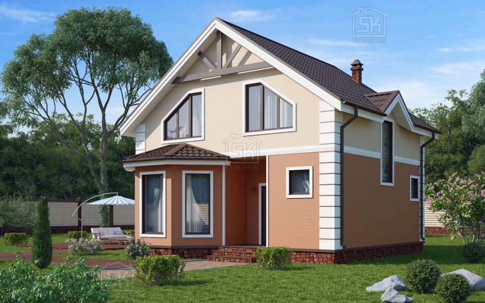 Дом из СИП панелей по проекту Мерлин