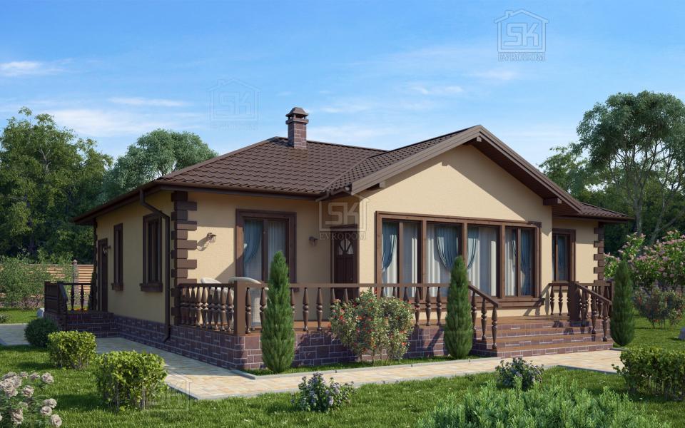 Дом из СИП панелей по проекту Братск