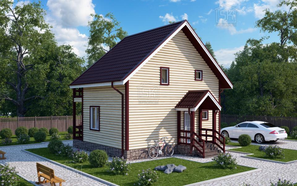 Дом из СИП панелей по проекту Залив