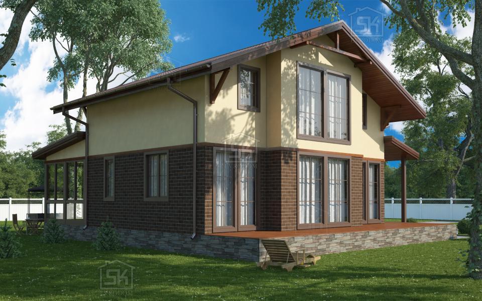 Дом из СИП панелей по проекту Озерки